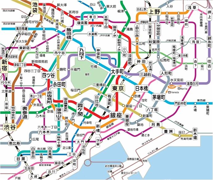 東京路線図から賃貸オフィスを探す